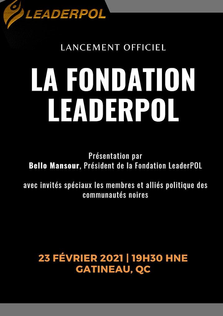 Image de Mois de l'Histoire des Noirs: Lancement de la Fondation LeaderPOL
