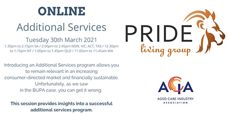 Additional Services - ONLINE tickets