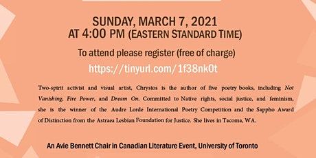 A Reading by Menominee Poet Chrystos tickets