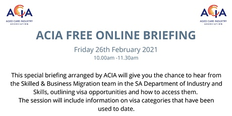 Skilled & Business Migration - FREE ONLINE BRIEFING 26/02 tickets