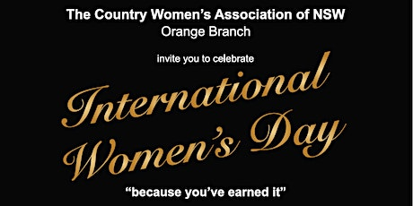 Because you've earned it: Orange CWA International Women's Day  celebration tickets