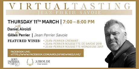 Virtual Tasting with Jean-Perrier Savoie tickets