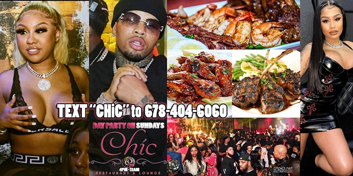 ATL FUN SUNDAY THE HOTTEST *DAY PARTY* STAR WEEKEND ALL AT CHIC LOUNGE image