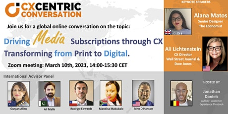 CX Centric Conversation: Driving Media Subscriptions (CX Brussels) tickets