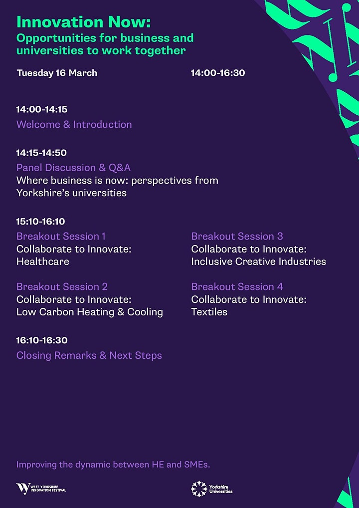 Innovation Now: opportunities for business & universities to work together image