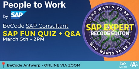 SAP  Bootcamp | Last day of registrations event QUIZ + Q&A - BeCode Antwerp tickets