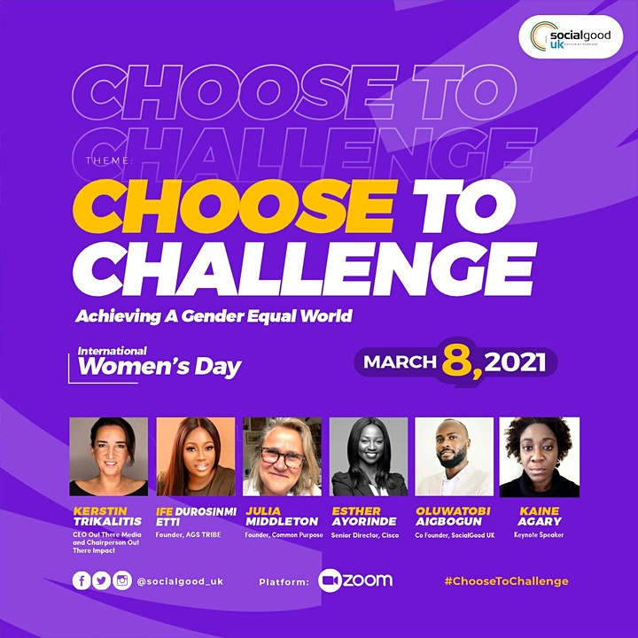 CHOOSE TO CHALLENGE: Achieving A Gender Equal World image