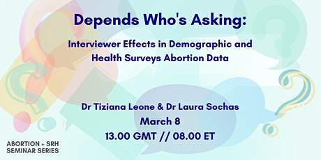 Interviewer Effects in Demographic and Health Surveys Abortion Data tickets