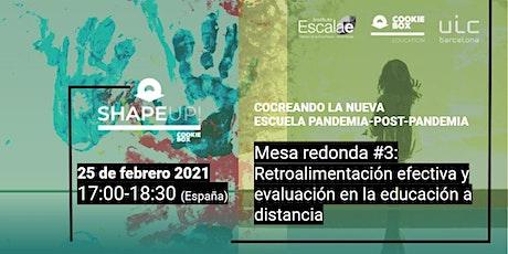 Mesa redonda#3: Retroalimentación efectiva/Evaluación educación a distancia ingressos