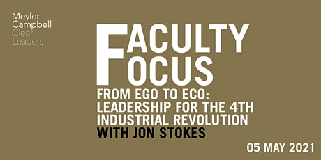 Faculty Focus: Ego to Eco with Jon Stokes tickets
