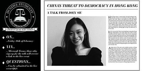 China's Threat to Democracy in Hong Kong tickets