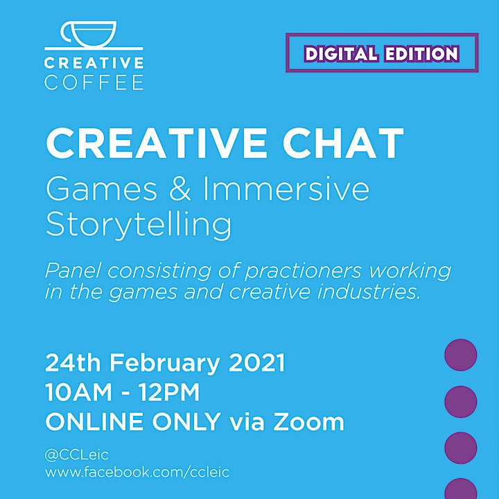 Creative Coffee Leicester - Digital Edition - 24th February 2021 image