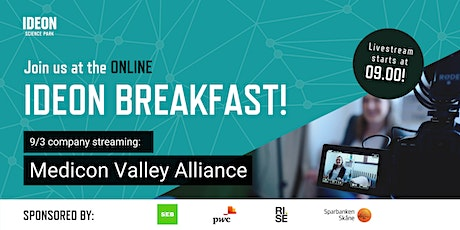Ideon Breakfast Online with Medicon Valley Alliance tickets