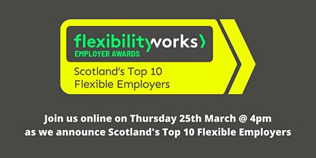 Flexibility Works > Top 10 Employer Awards Announcement tickets