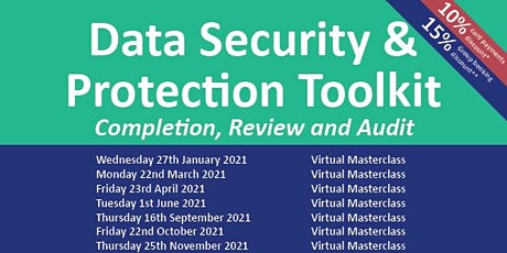 Data Security & Protection Toolkit: Completion, Review & Audit tickets