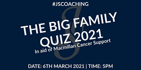 The Big Family Quiz 2021 presented by #JSCOACHING tickets