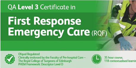 QA First Response Emergency Care Level 3 tickets
