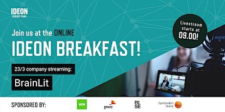 Ideon Breakfast Online with BrainLit tickets