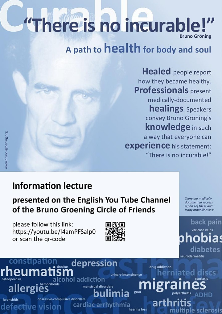 Information Lecture: Help and Healing on the Spiritual Path through the teaching of Bruno Groening image