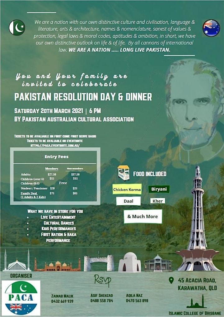 Pakistan Resolution Day Celebrations & Dinner image