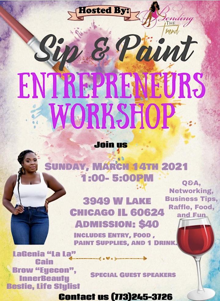 Sip & Paint Entrepreneurs WorkShop image
