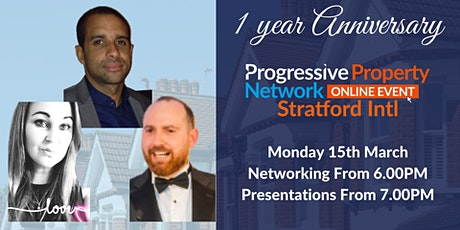 PPN Stratford Online Networking 15th March - 1 Year Anniversary tickets