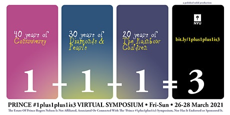 Prince #1plus1plus1is3 Virtual Symposium tickets