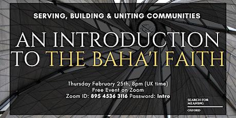 An Introduction to the Baha'i Faith tickets