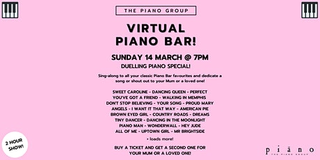 Virtual Piano Bar! (Duelling Piano special!) entradas