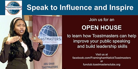 Speak to Influence and Inspire tickets