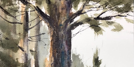 Painting Pine Trees in Watercolor (morning class option) tickets