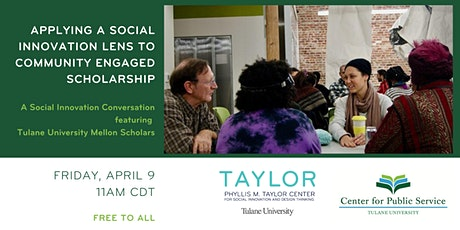 Applying a Social Innovation Lens to Community Engaged Scholarship tickets
