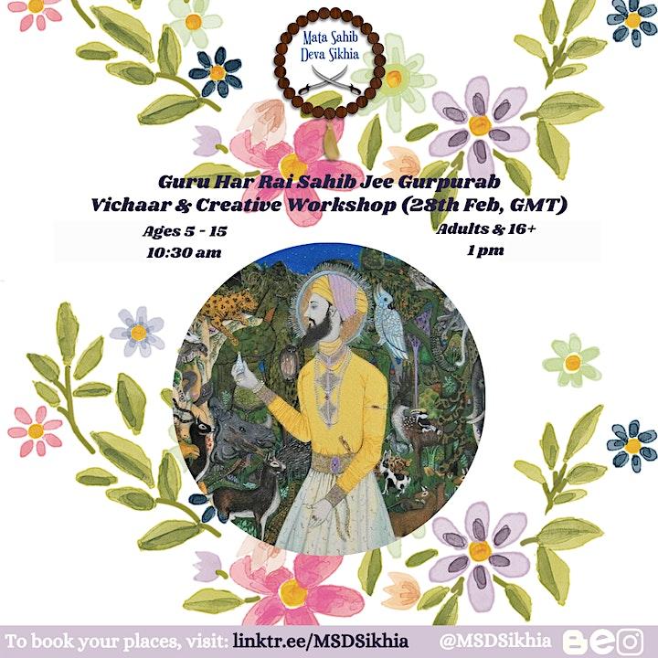 Guru Hai Rai Sahib Jee Gurpurab - Vichaar/Creative Workshop (16+) image
