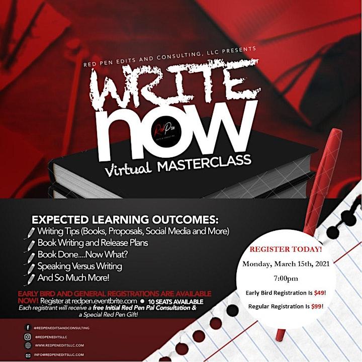 Write Now! - Virtual MasterClass image