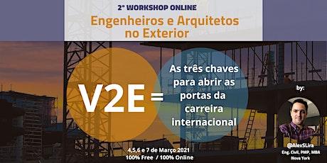 2º Workshop Online Engenheiros e Arquitetos no Exterior bilhetes