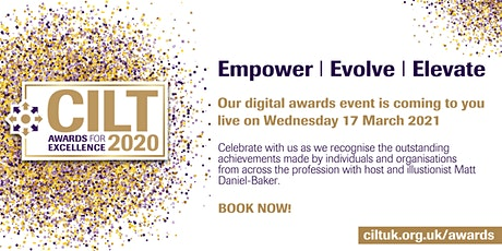CILT Awards for Excellence 2020 tickets