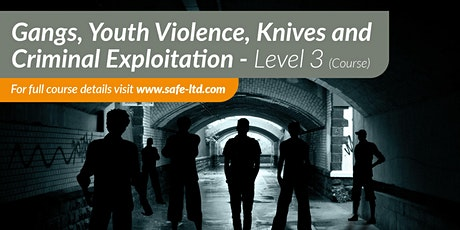 Gangs, Youth Violence, Knives and Criminal Exploitation Course tickets