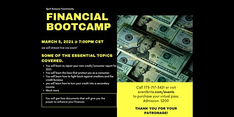 FINANCIAL BOOTCAMP tickets