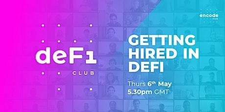 DeFi Club | Getting hired in DeFi entradas