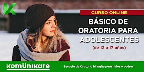 """""""Curso básico de oratoria para adolescentes"""" (de 12-17 años) entradas"""