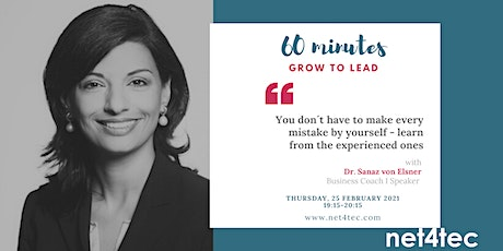 60 minutes GROW TO LEAD - You don´t have to make every mistake by yourself Tickets
