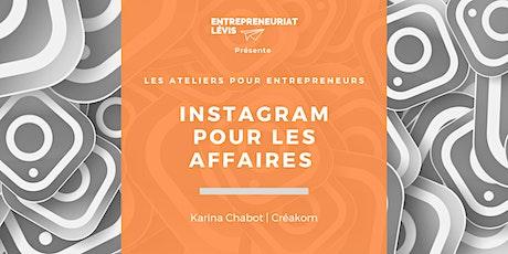 Instagram pour les affaires par Karina Chabot de Créakom billets