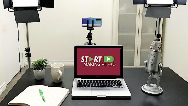 Start Making Videos Hands-On Workshop On Zoom |  Sat. Mar. 27, 10 am image