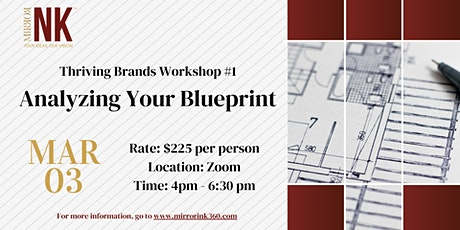 Thriving Brands Workshop: Analyzing Your Blueprint tickets