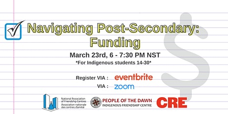 Navigating Post-Secondary: Funding tickets