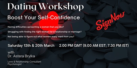 Dating Workshop: Boost Your Self-Confidence tickets