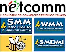 NetComm Consorzio e-commerce + #SMMdayIT + Social Media Digital Marketing Italia + Social Media Marketing Italiano + WMM logo