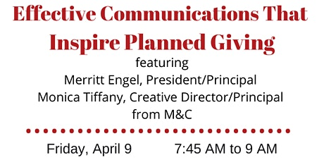 Effective Communications that Inspire Planned Giving with M & C Co-Owners tickets