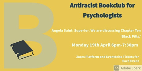 April  Antiracist Bookclub for Psychologists Zoom Meeting. tickets