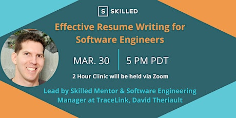 Effective Resume Writing for Software Engineers tickets
